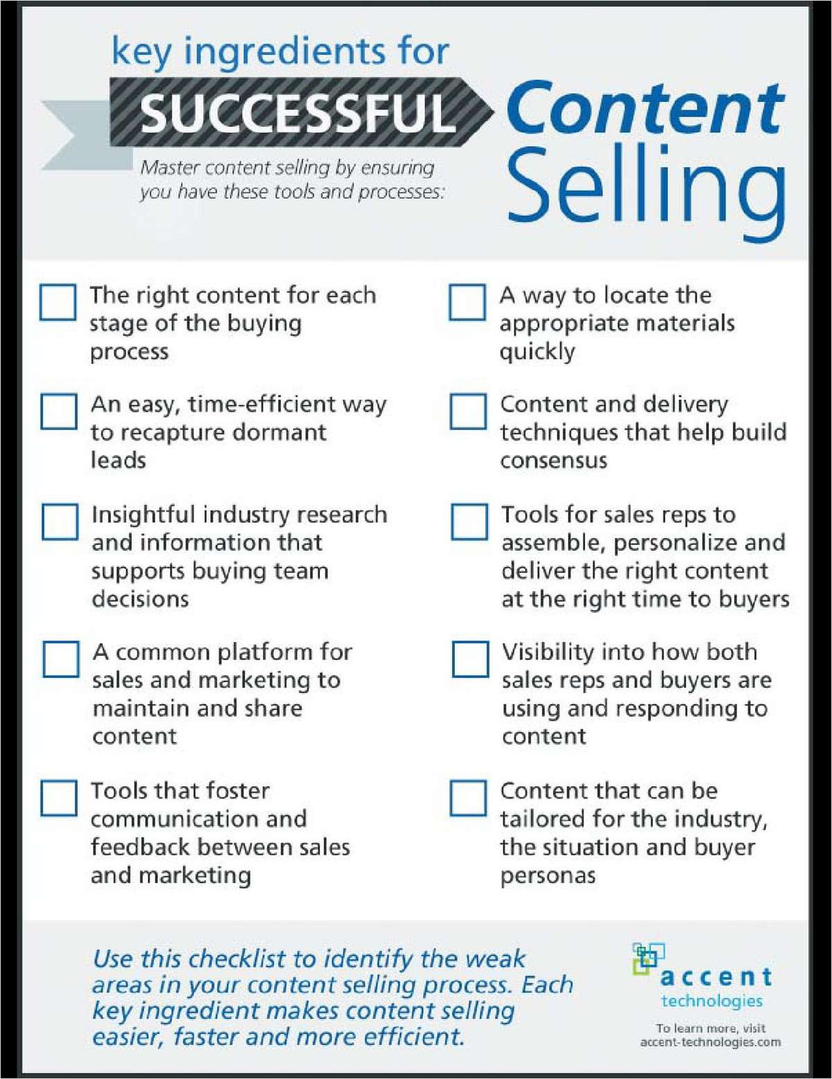 Checklist: Key Ingredients for Successful Content Selling