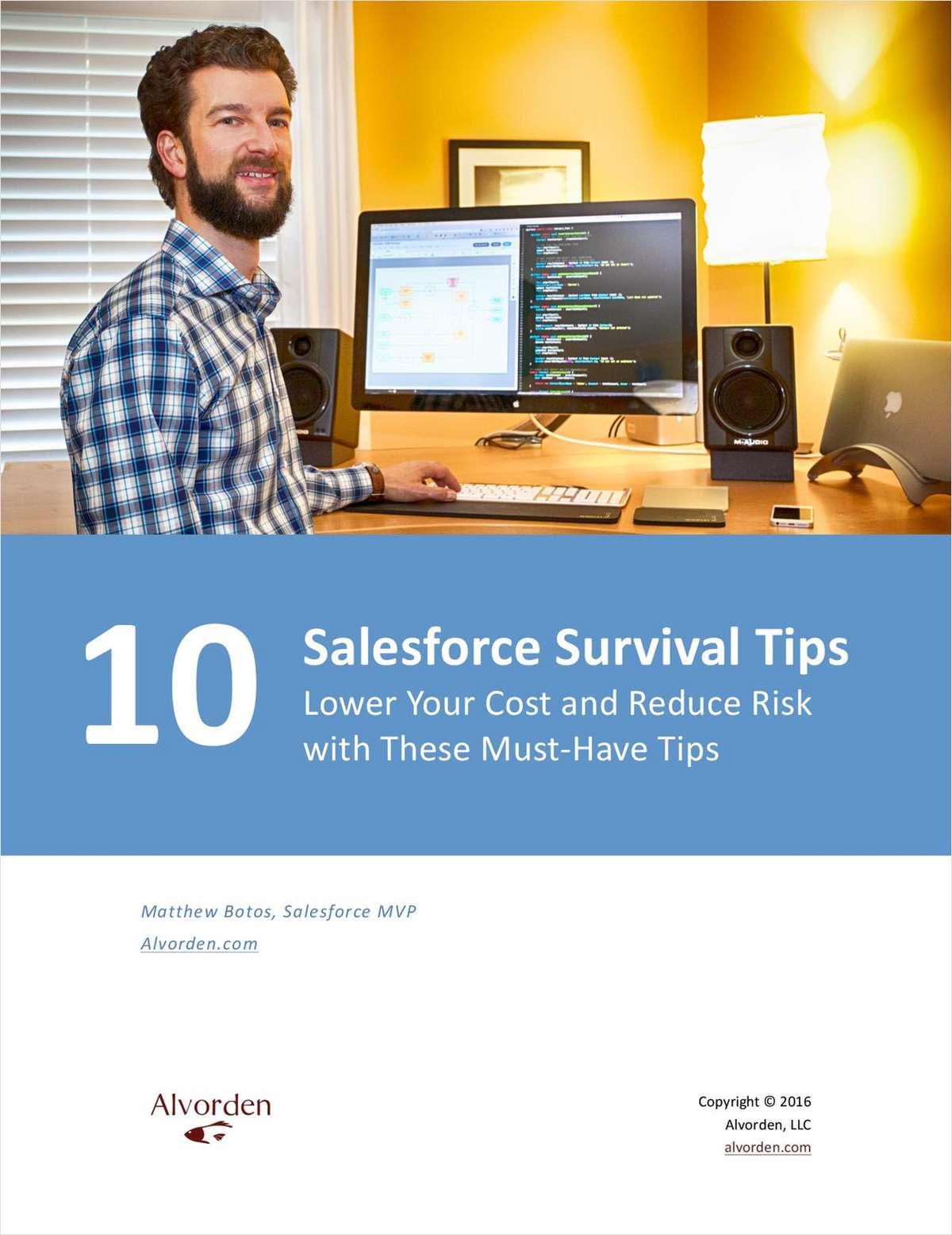 10 Salesforce Survival Tips
