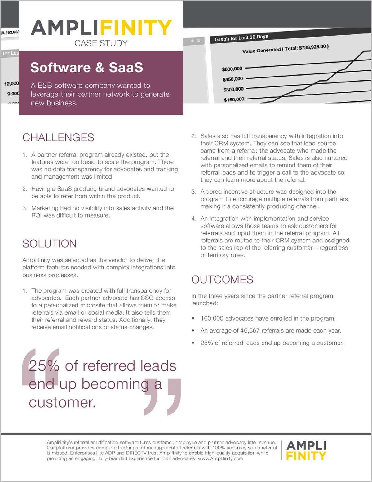 SaaS Partner Referral Program - Case Study