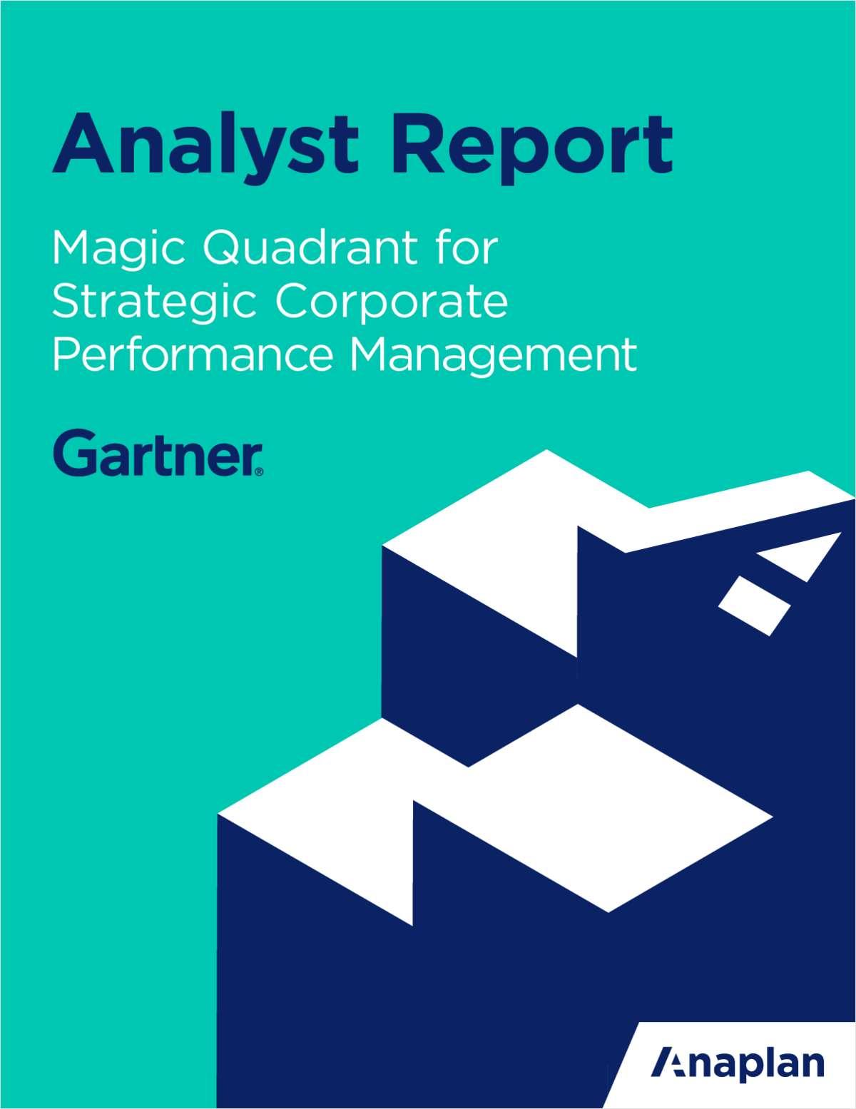 Magic Quadrant for Cloud Strategic Corporate Performance ... on
