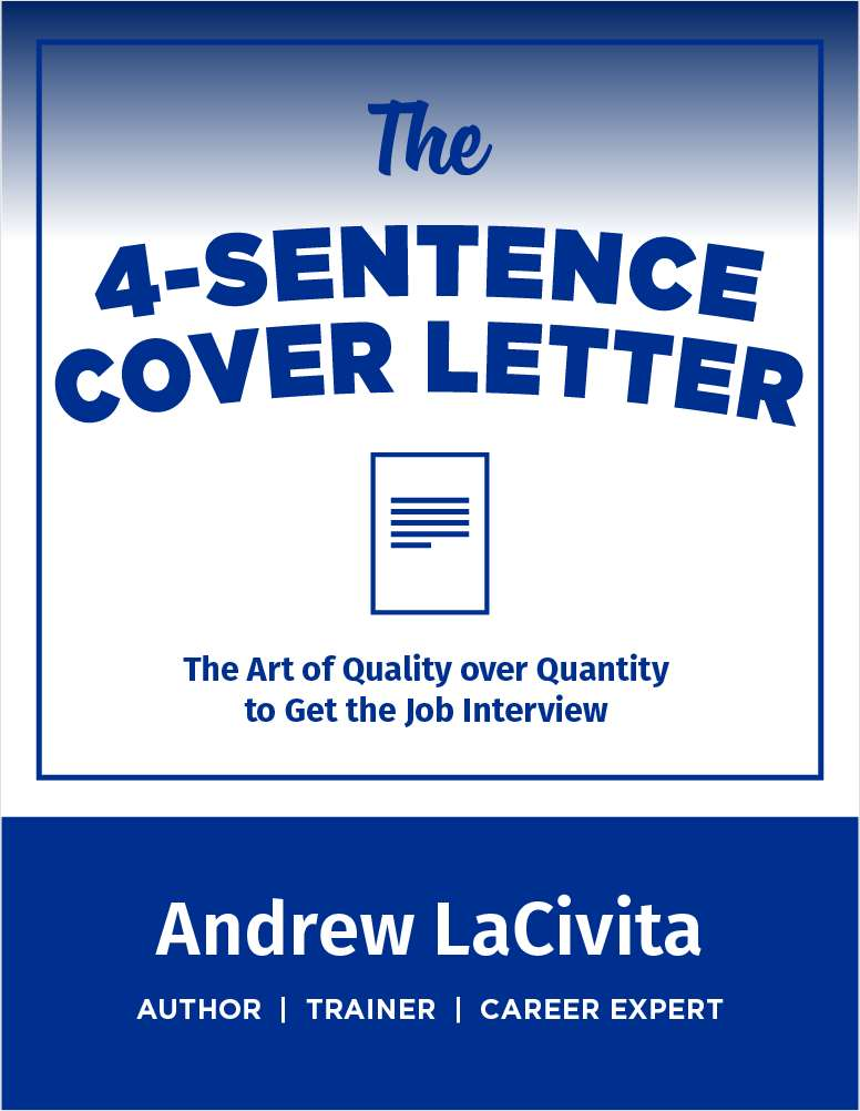 The 4 Sentence Cover Letter Free Andrew LaCivita Cheat Sheet