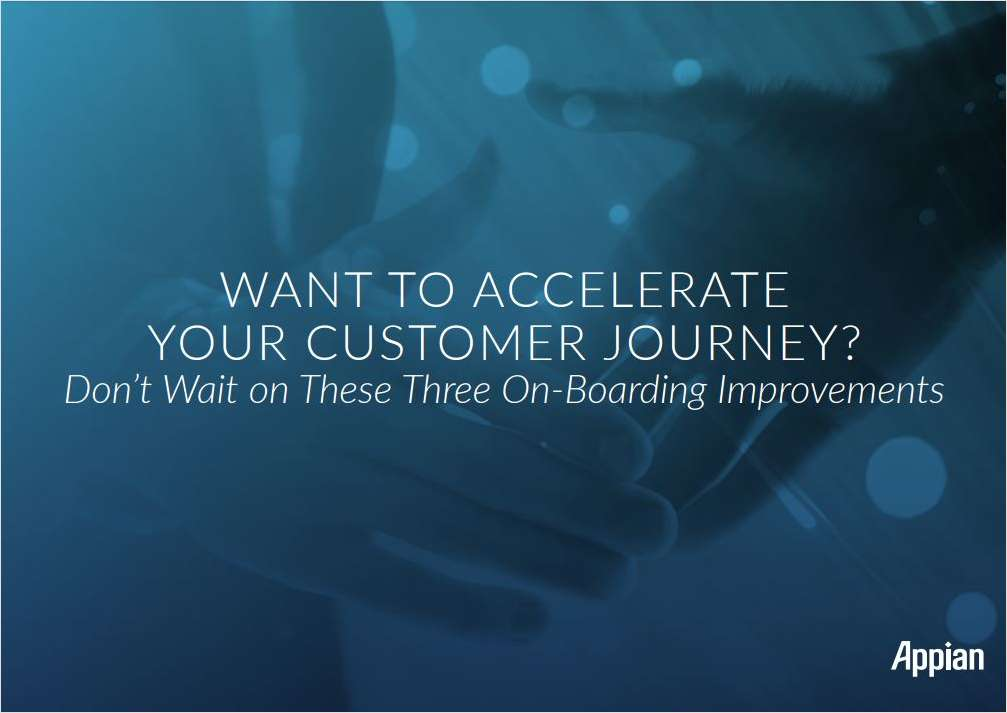 Want to Accelerate Your Customer Journey?