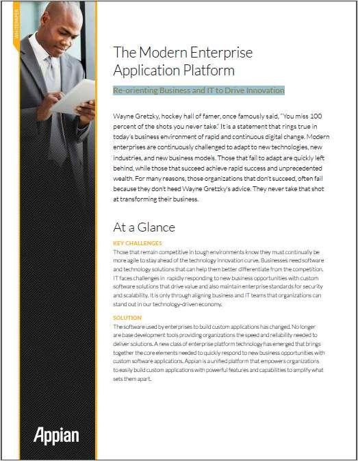 The Modern Enterprise Application Platform