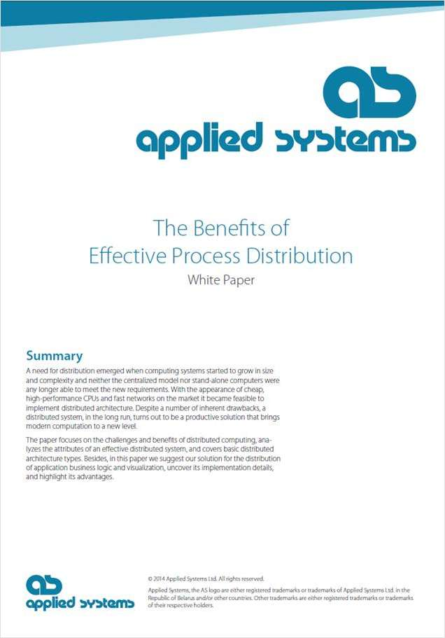 The Benefits of Effective Process Distribution