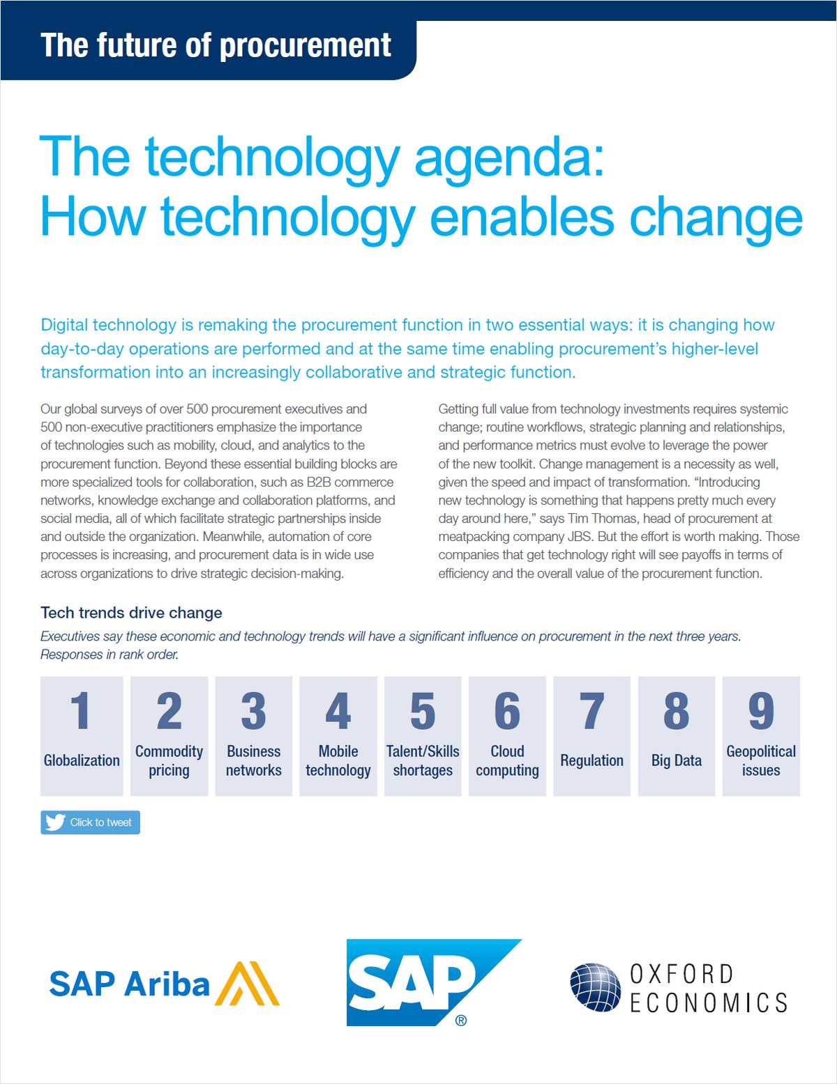 The Technology Agenda: Think Piece