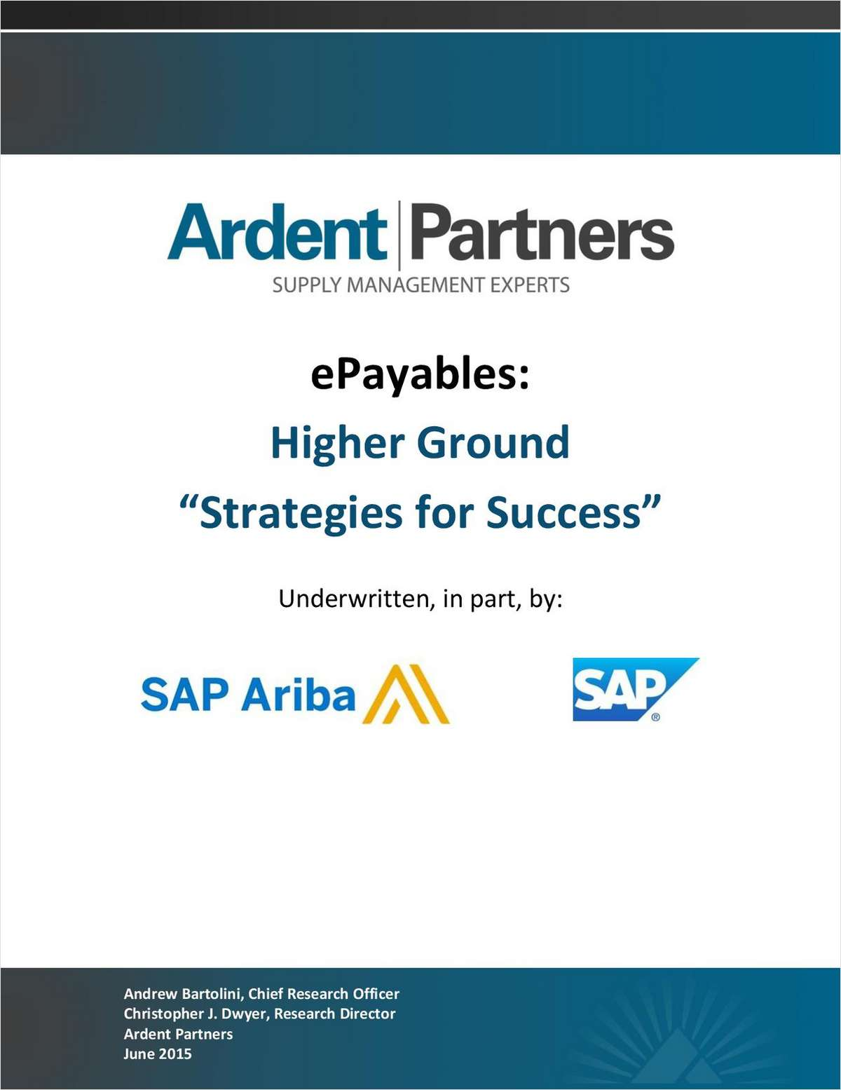 ePayables: Higher Ground - Strategies for Success