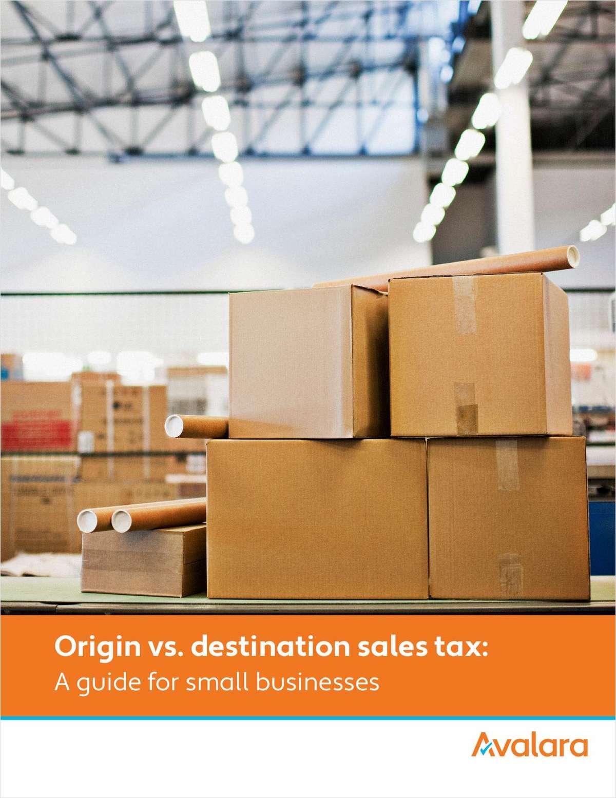 Origin vs. Destination Sales Tax: A Guide for Small Business