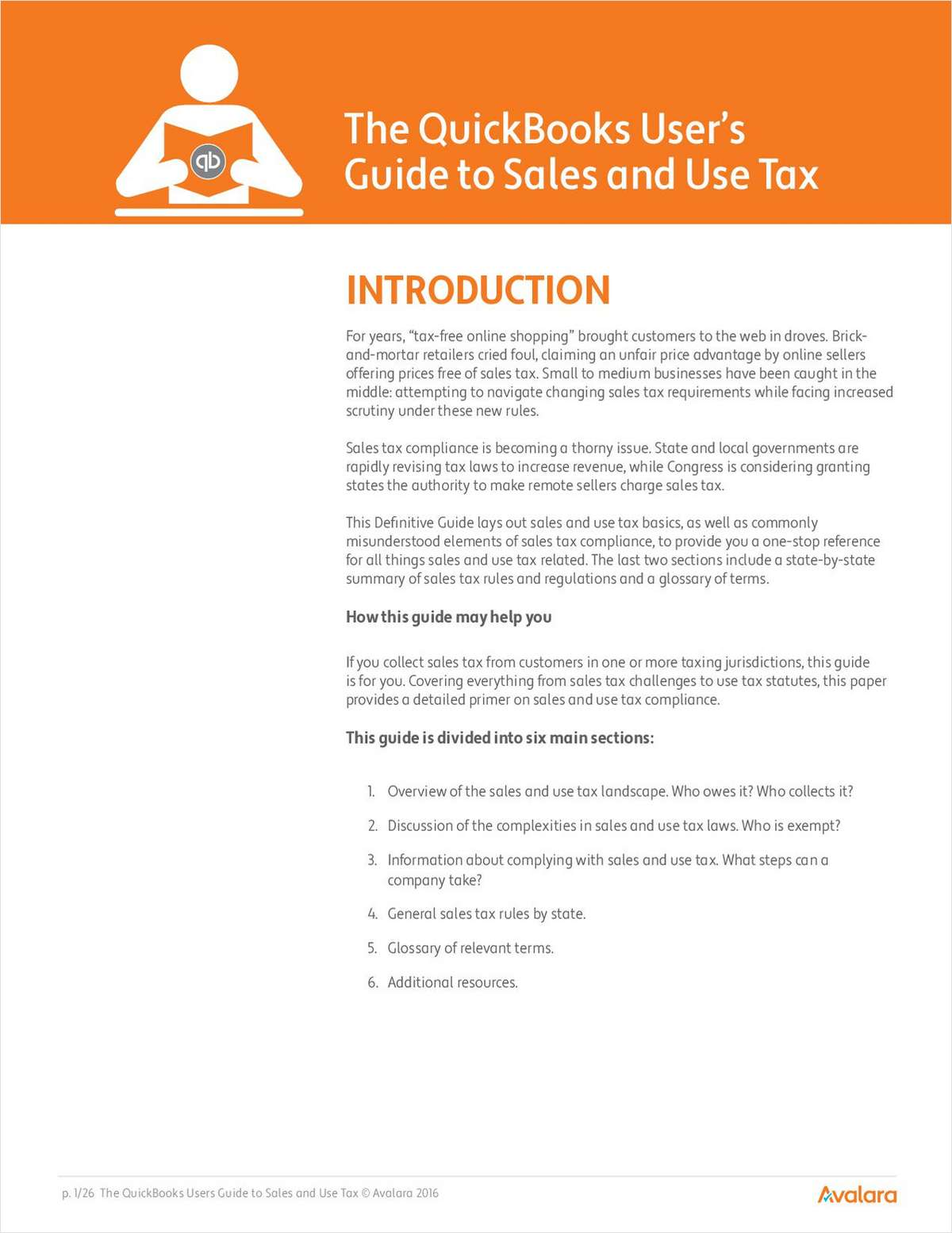 The QuickBooks User's Guide to Sales and Use Tax