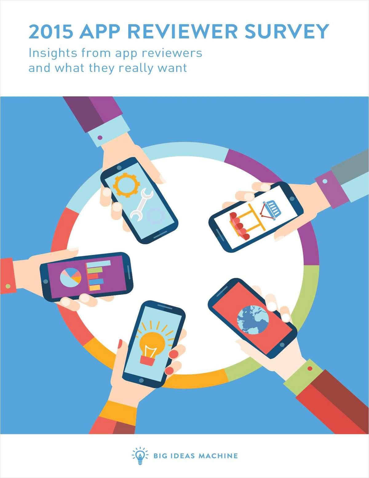 2015 App Reviewer Survey