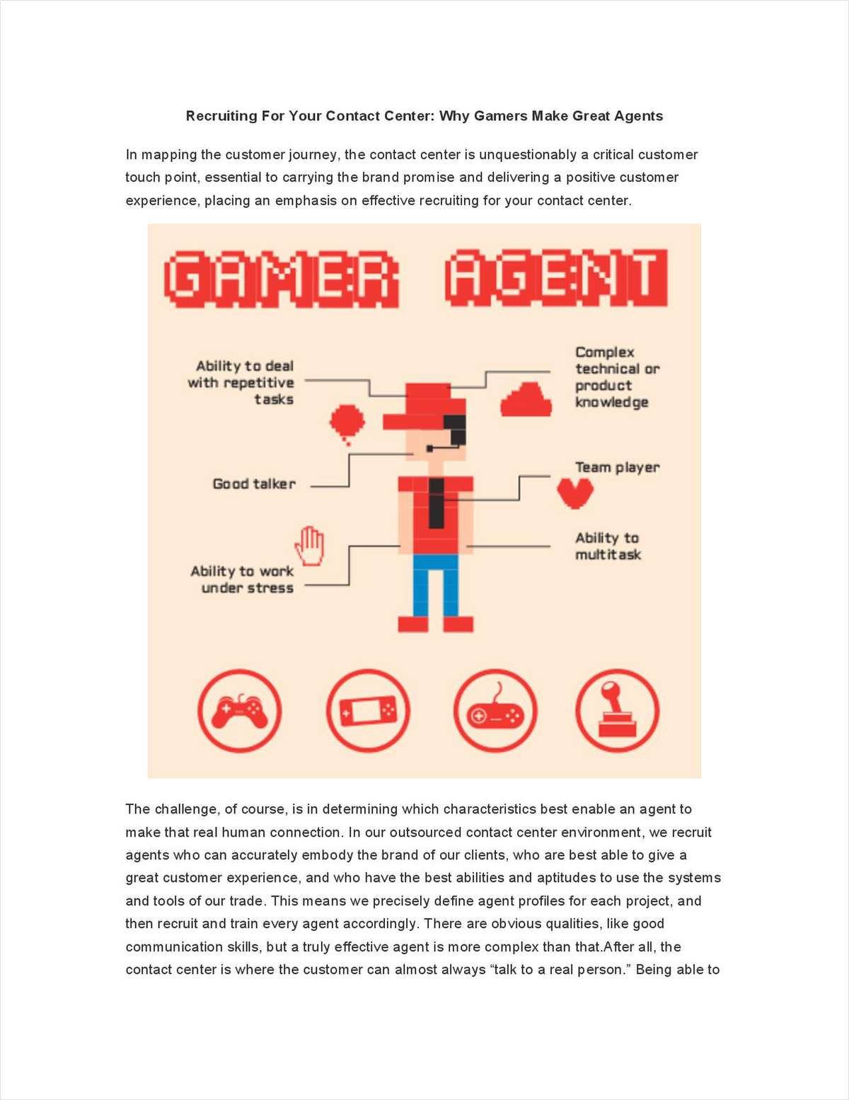 Recruiting for Your Contact Center: Why Gamers Make Great Agents