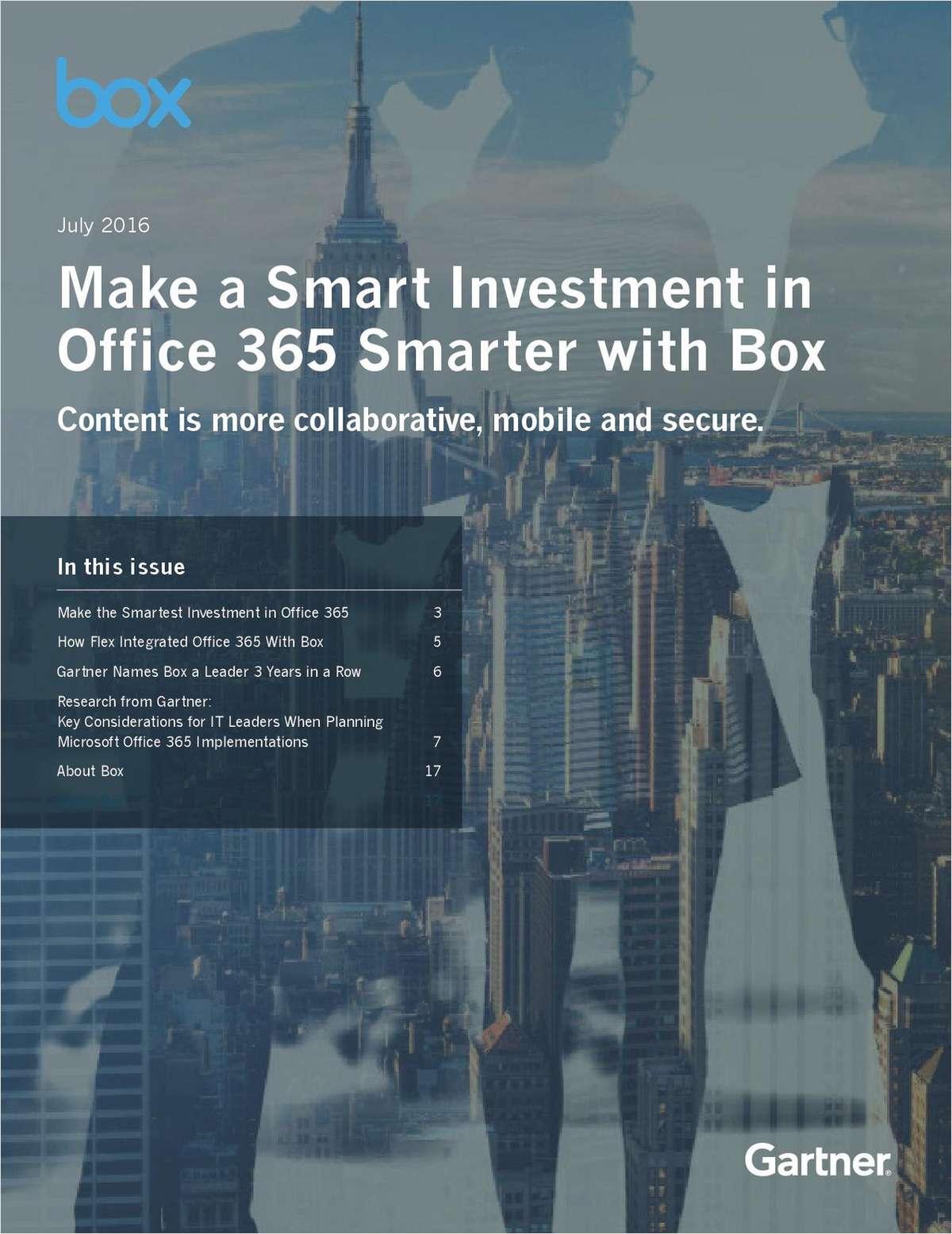 Gartner + Box O365: Make a Smart Investment in Office 365 Smarter
