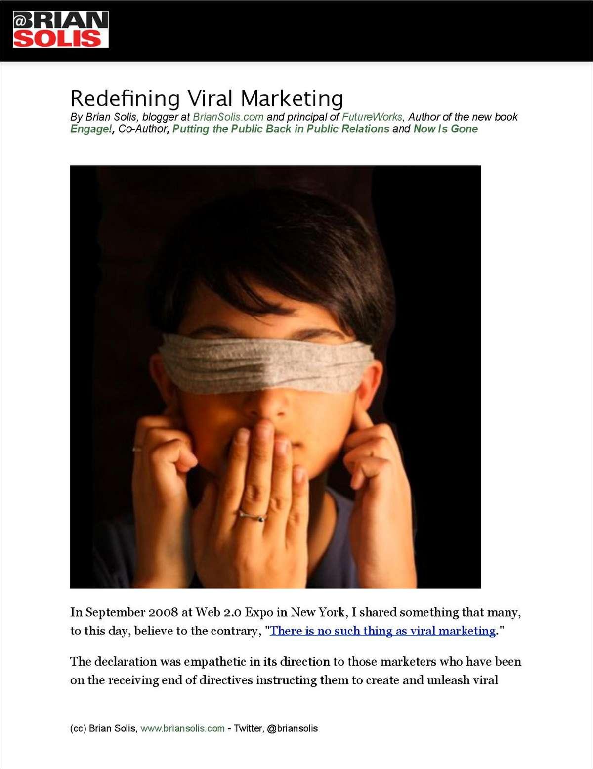 Redefining Viral Marketing