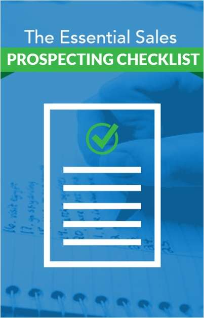 The Essential Sales Prospecting Checklist