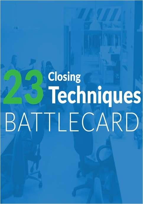 23 Closing Techniques Battlecard