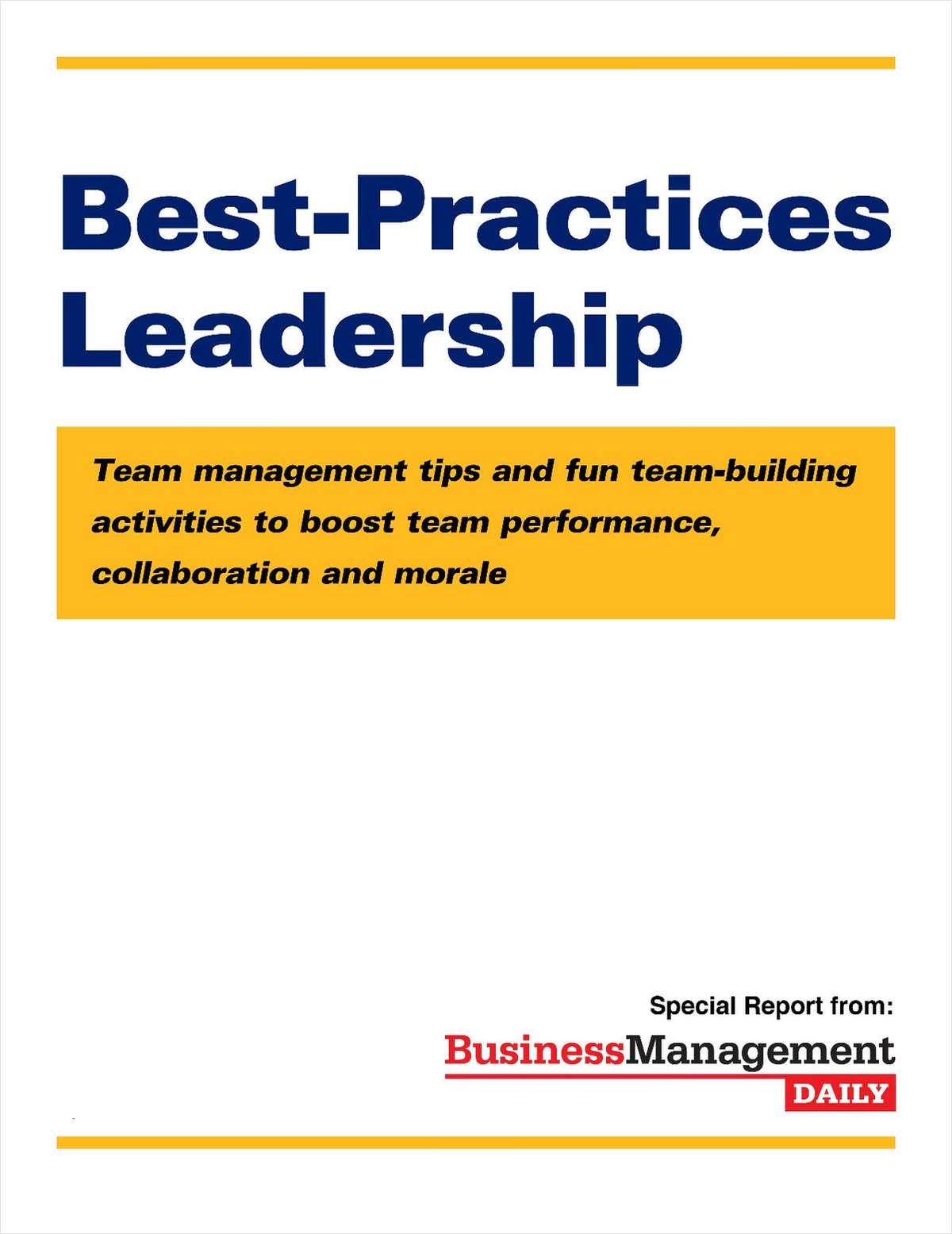 Best-Practices Leadership: Team Management Tips