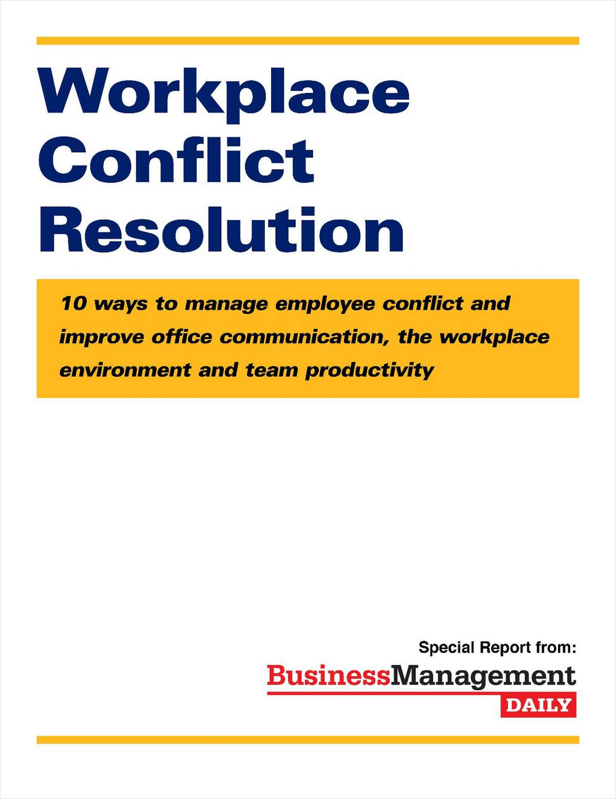 Workplace Conflict Resolution