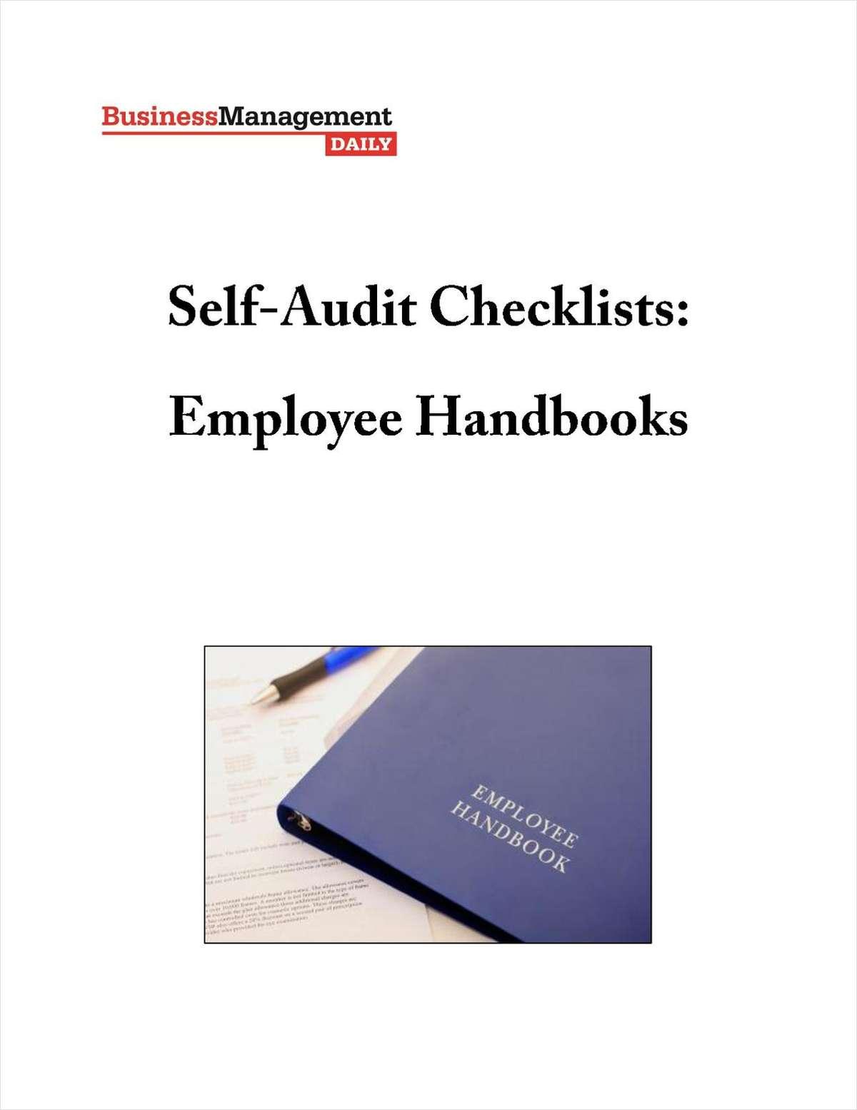 Self-Audit Checklist: Your Employee Handbook