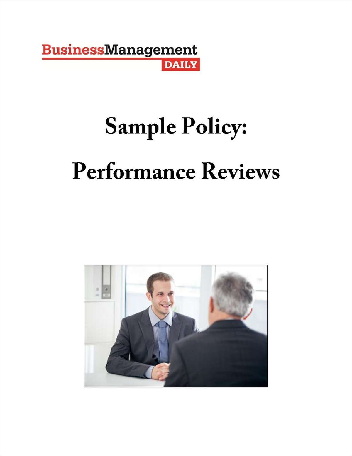 Performance Review Sample Policy