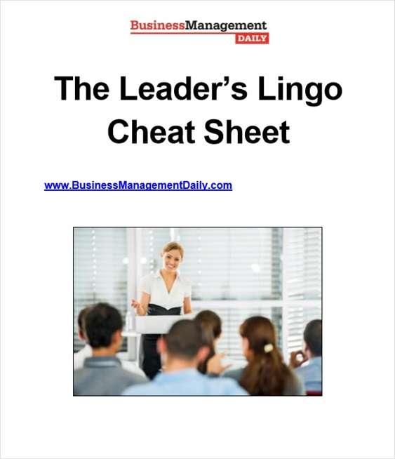 The Leader's Lingo Cheat Sheet