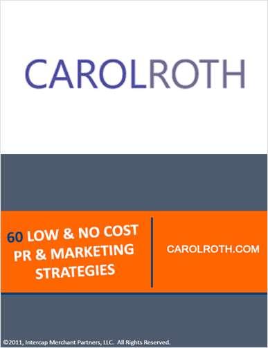 60 Low & No Cost PR & Marketing Strategies