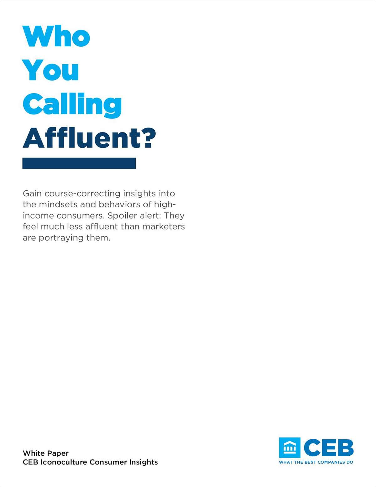 Who You Calling Affluent?