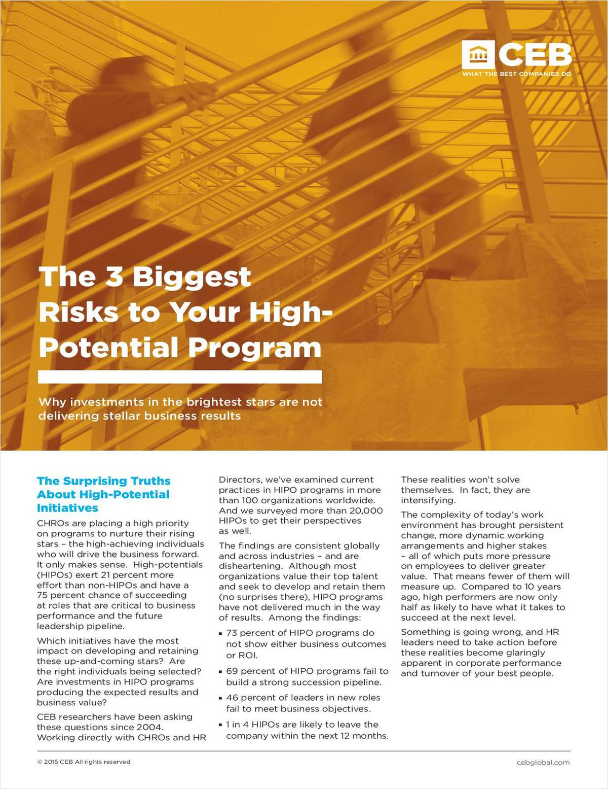 The 3 Biggest Risks to Your High-Potential Program: Why investments in the brightest stars are not delivering stellar business results