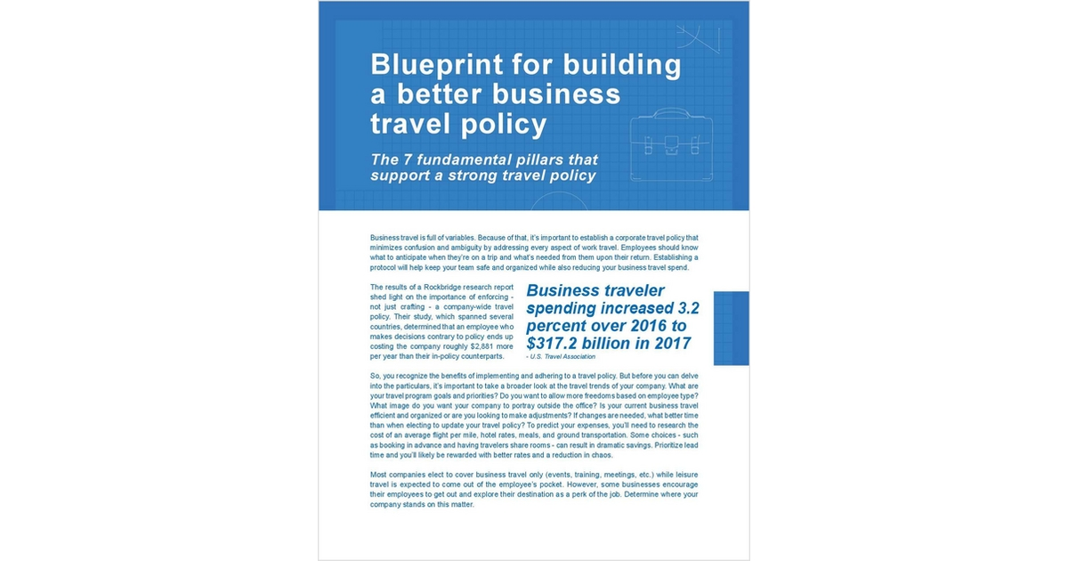 Blueprint for building a better business travel policy free blueprint for building a better business travel policy free creative lodging solutions cheat sheet malvernweather Images