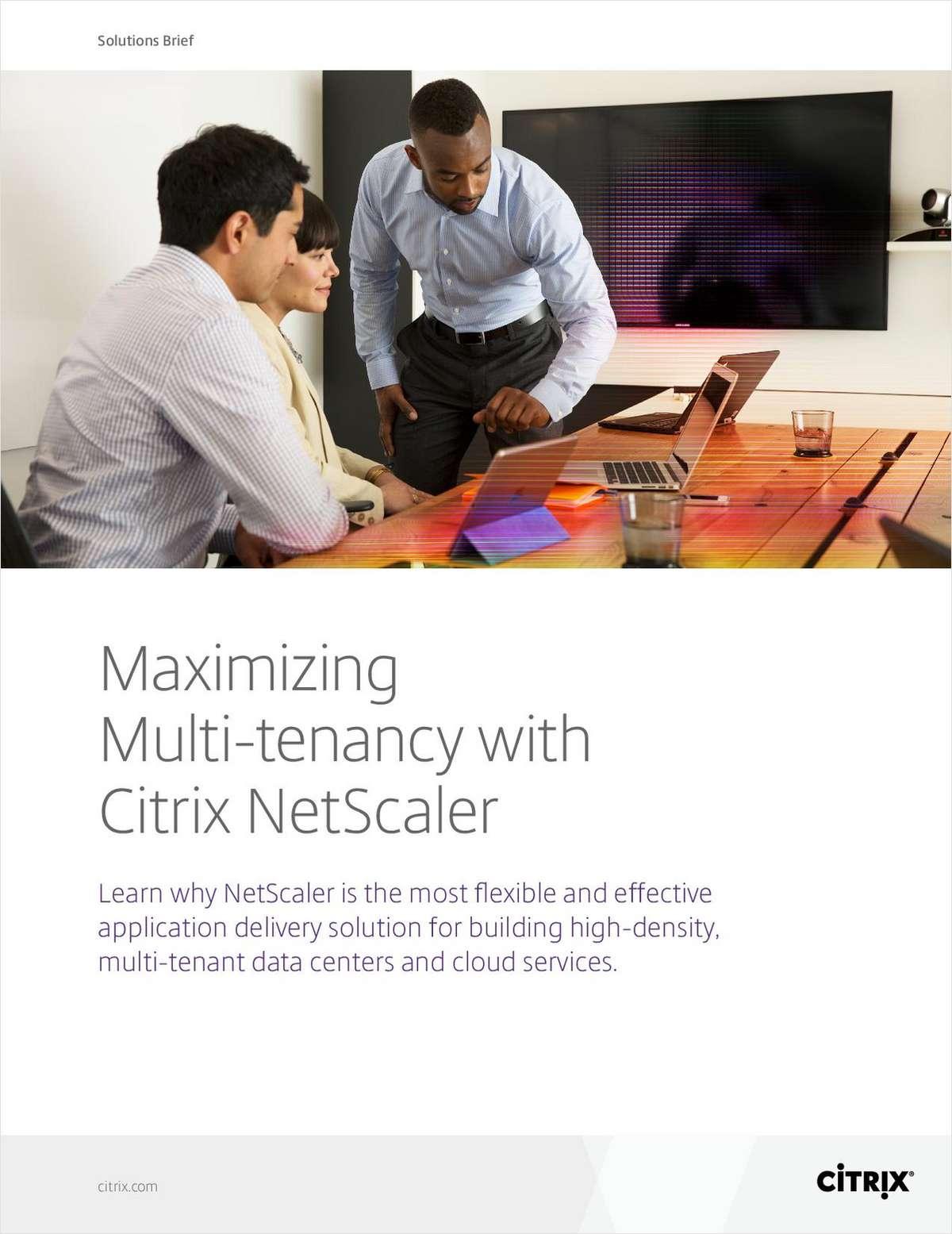SDN 103: Maximizing Multi-Tenancy with Citrix NetScaler