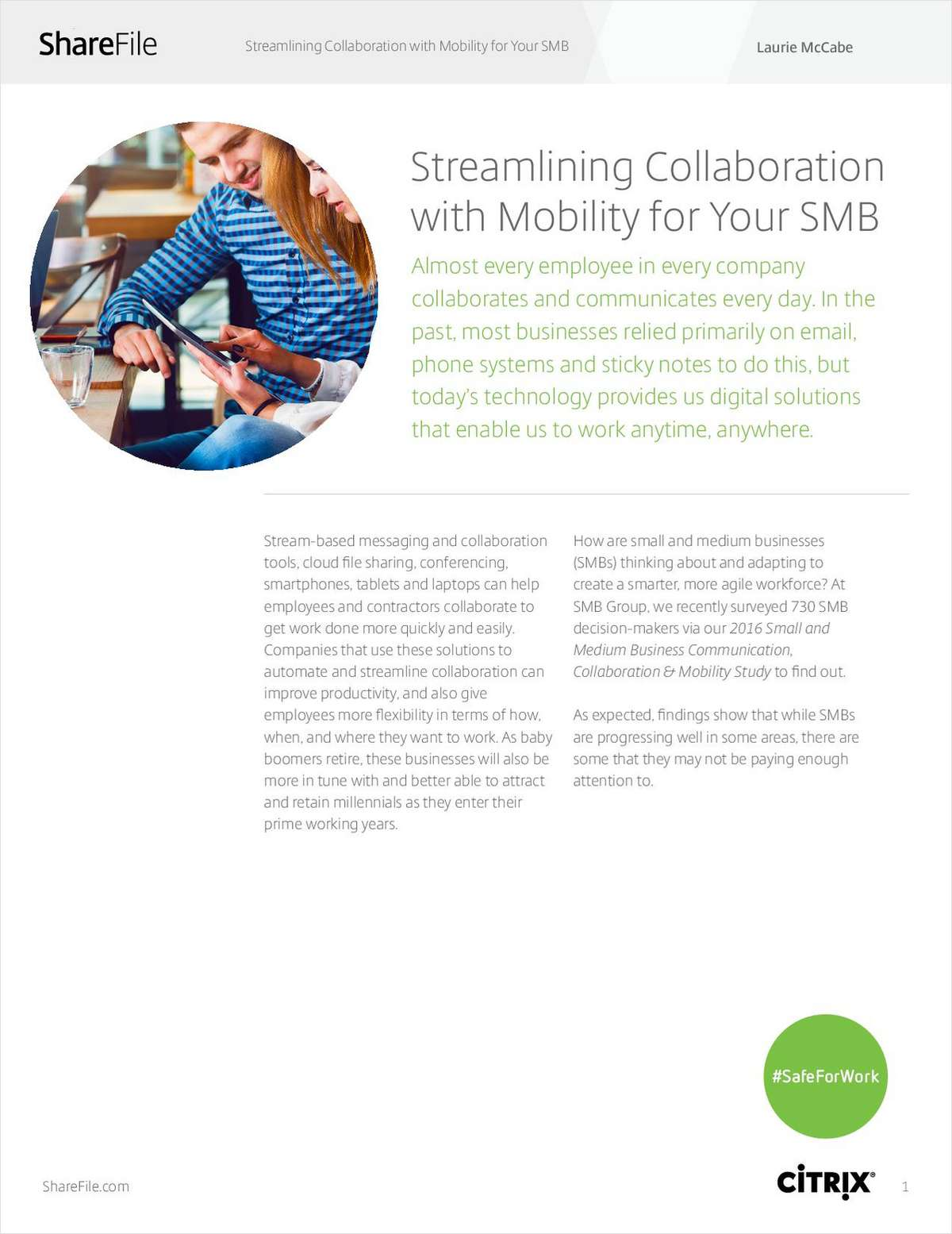 Trends in SMB Collaboration, Communication, and Mobility: What's Your Strategy?