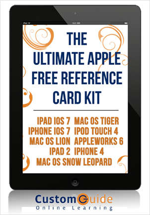 The  Ultimate Apple Free Reference Card Kit