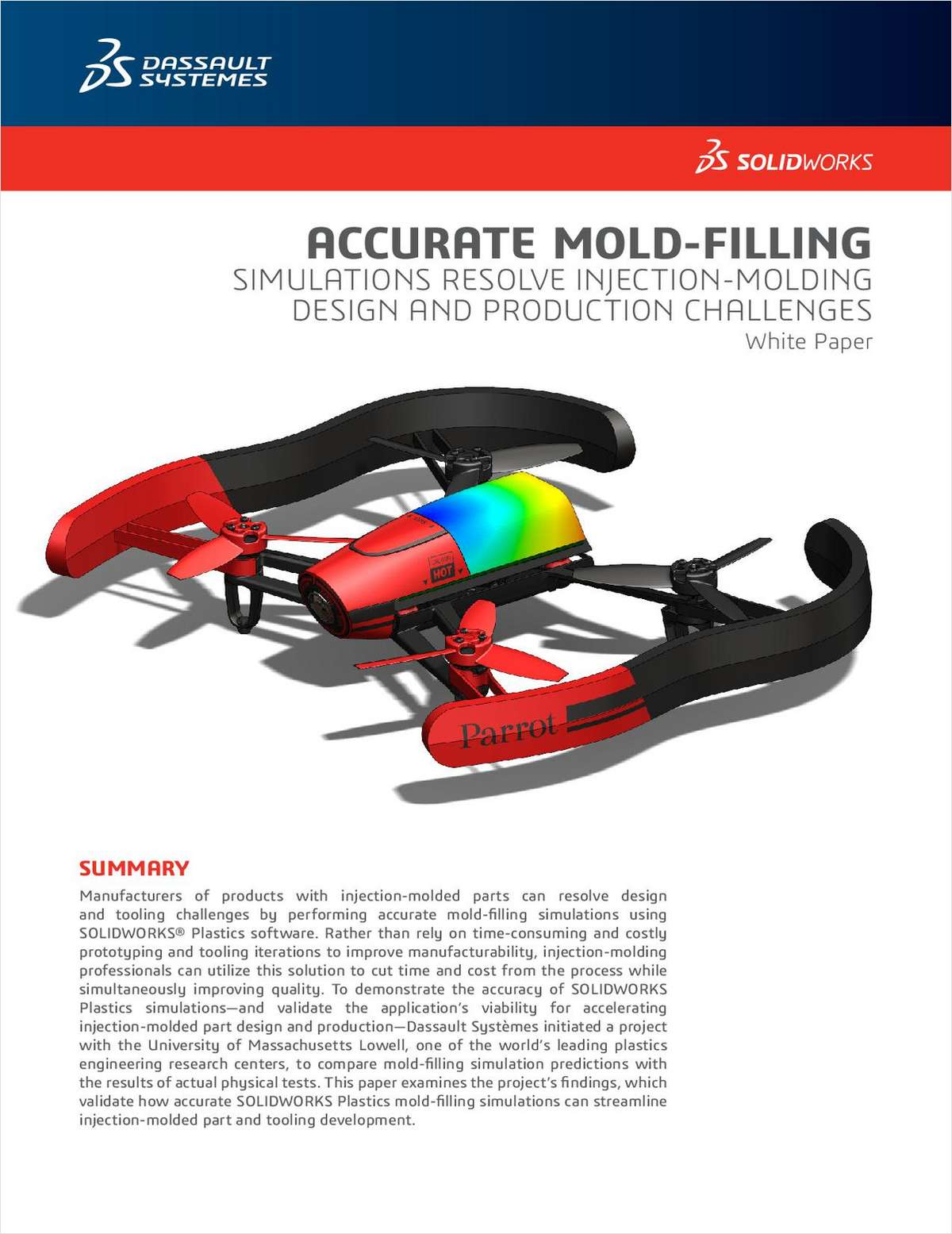 SOLIDWORKS® Resolves Injection-Molding Challenges