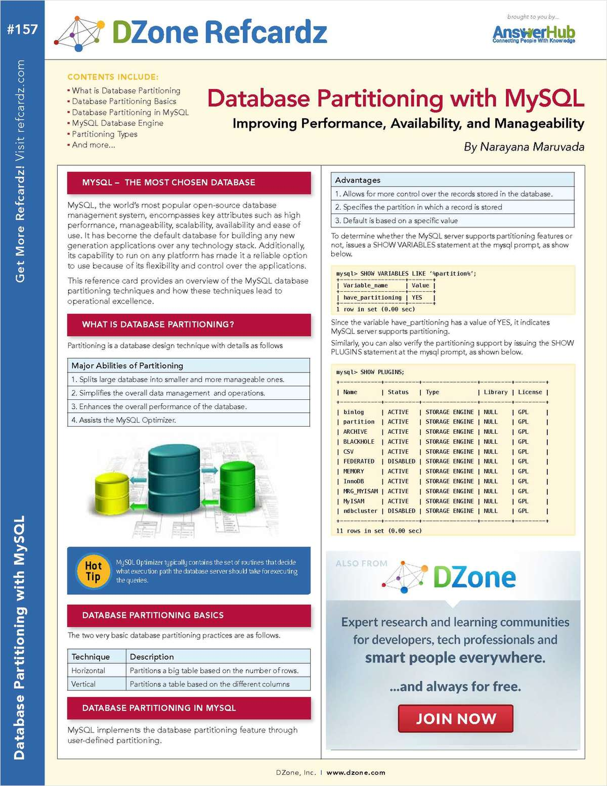 Database Partitioning with MySQL: Improving Performance, Availability, and Manageability