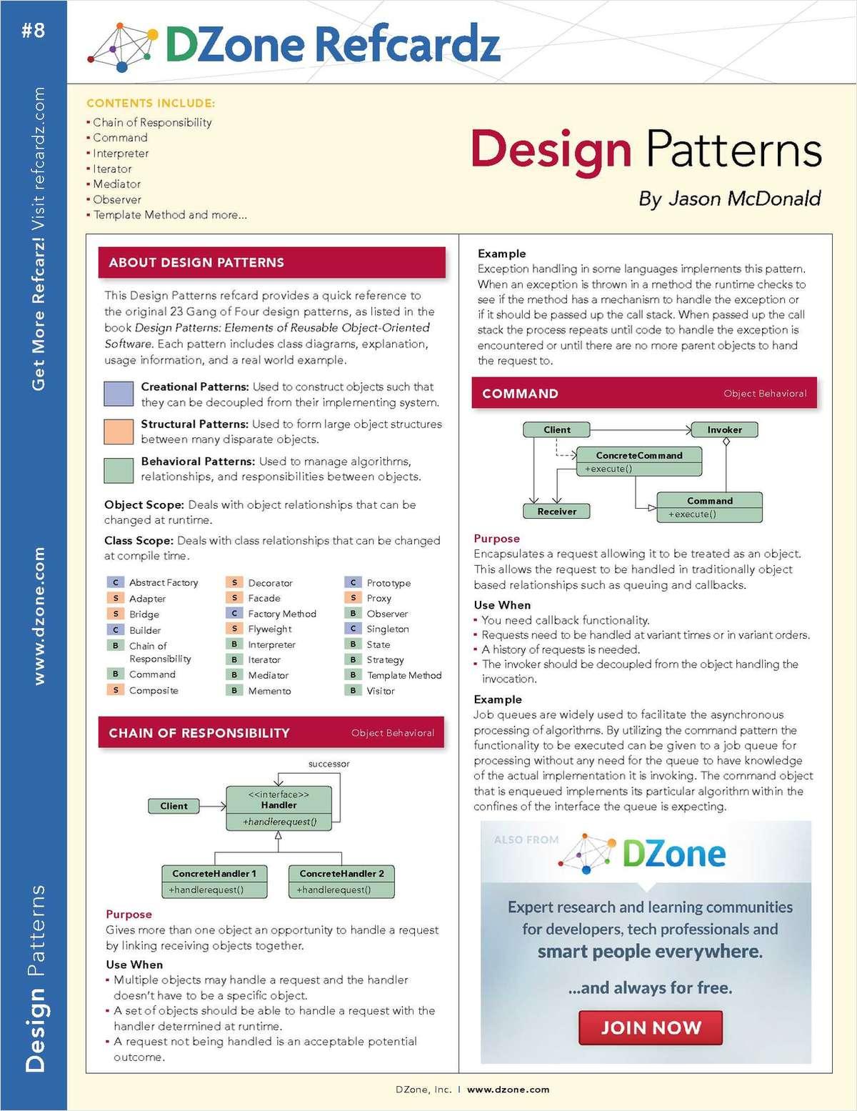 The Essential Design Patterns Cheat Sheet