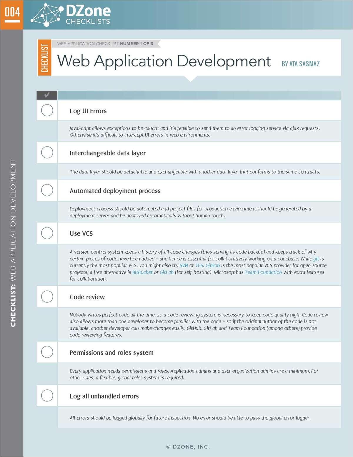 Web Application: Your Essential Checklist Bundle