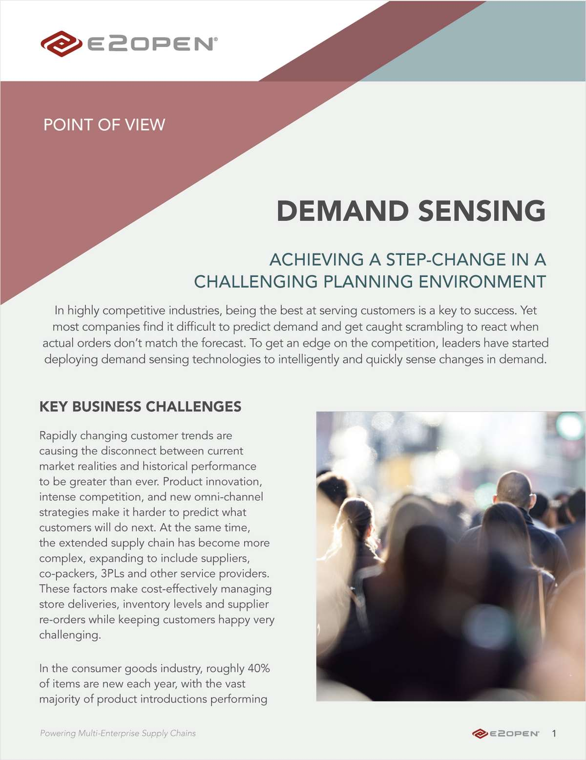 Demand Sensing: Achieving a step-change in a challenging planning environment