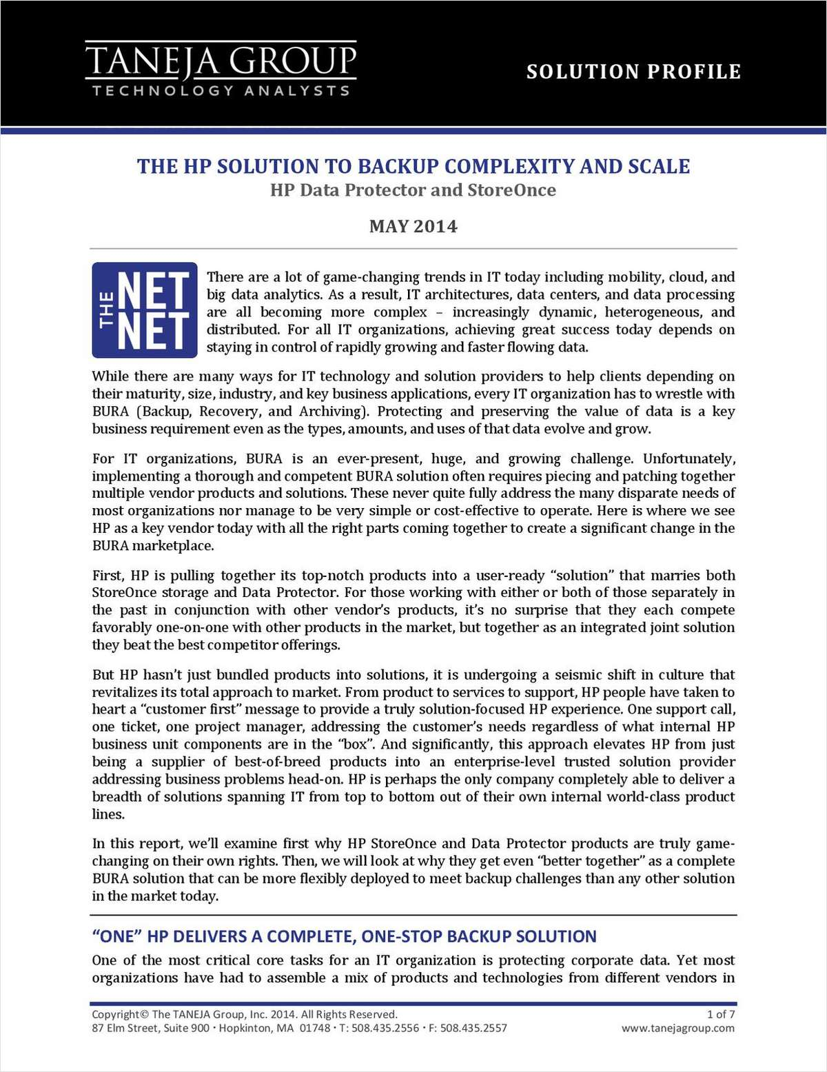 Array - the hp solution to backup complexity and scale free hewlett      rh   bizreport tradepub com