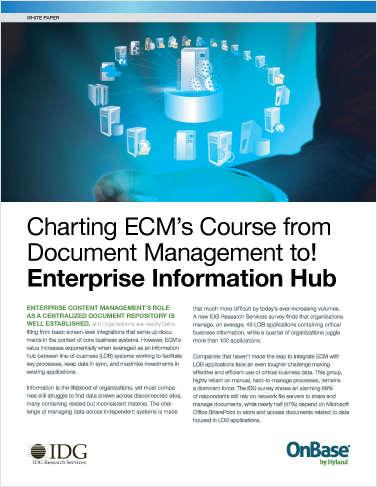 Charting ECM's Course to Enterprise Information Hub