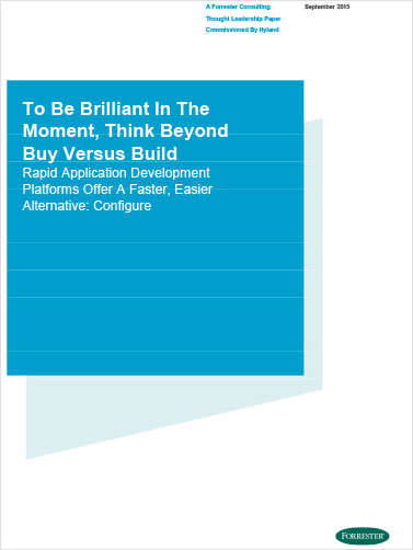 To Be Brilliant in the Moment, Think Beyond Buy Versus Build
