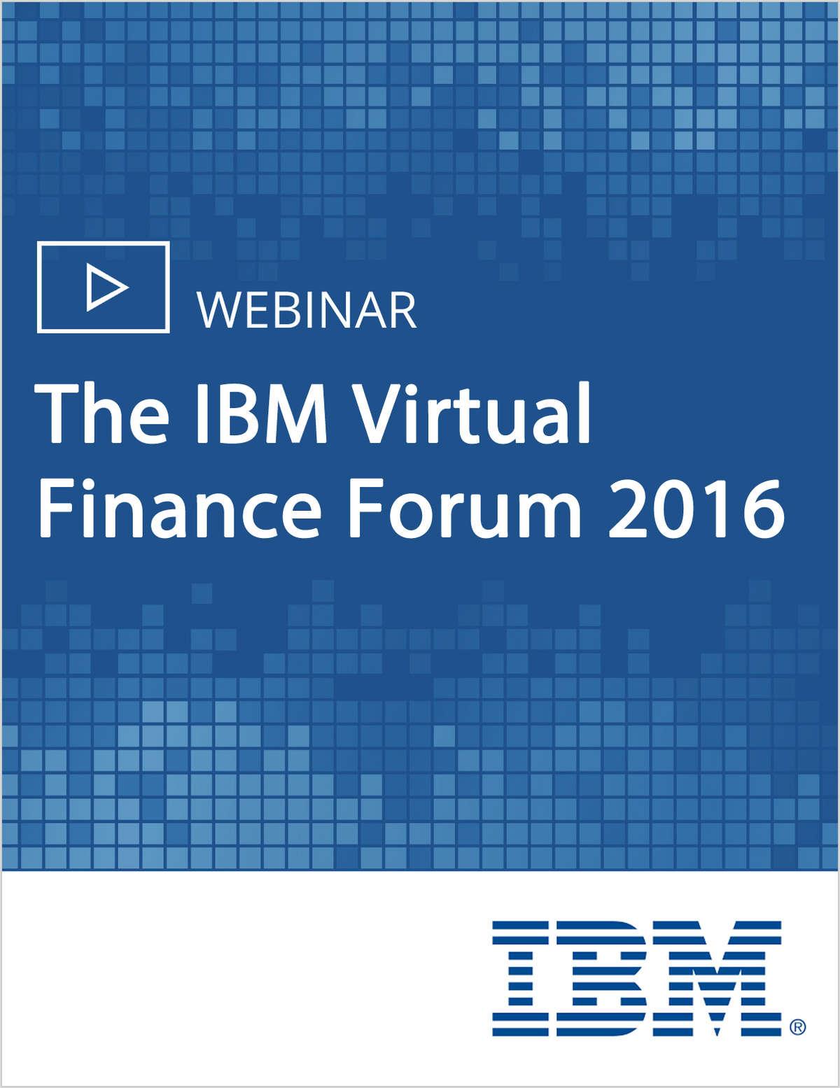 The IBM Virtual Finance Forum 2016