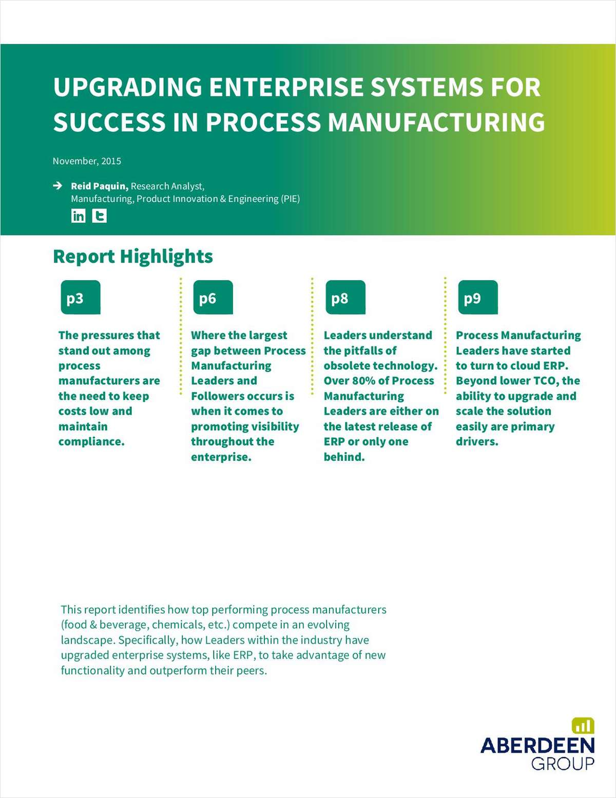 Upgrading Enterprise Systems for Success in Process Manufacturing
