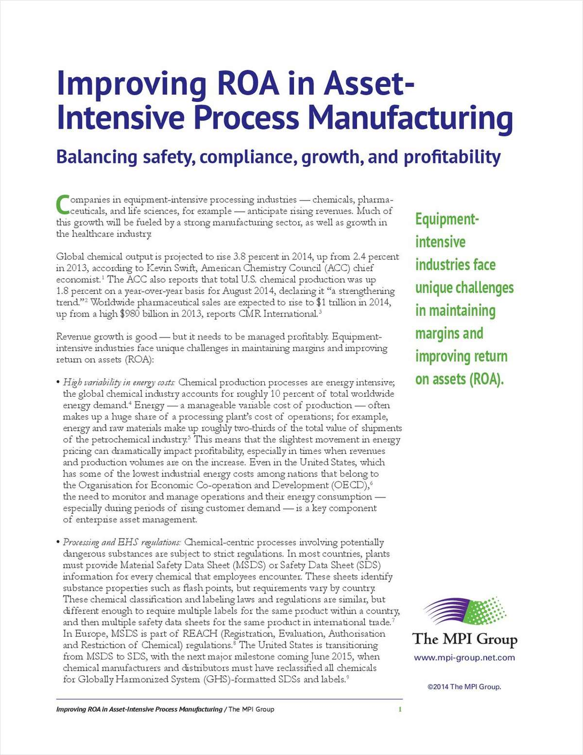 Improving ROA in Asset-Intensive Process Manufacturing