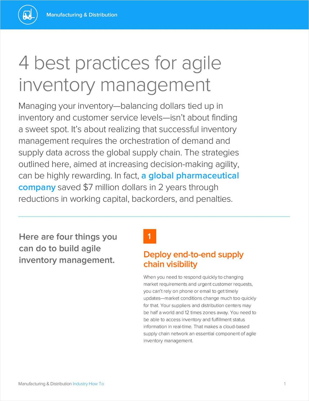 4 Best Practices for Agile Inventory Management