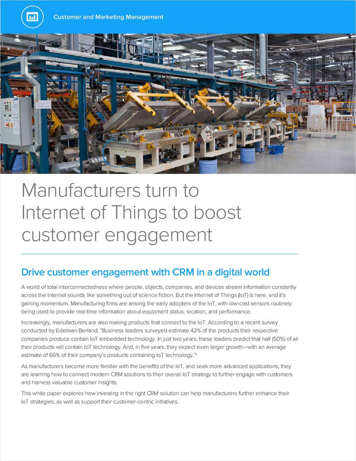 Manufacturers Turn to Internet of Things to Boost Customer Engagement