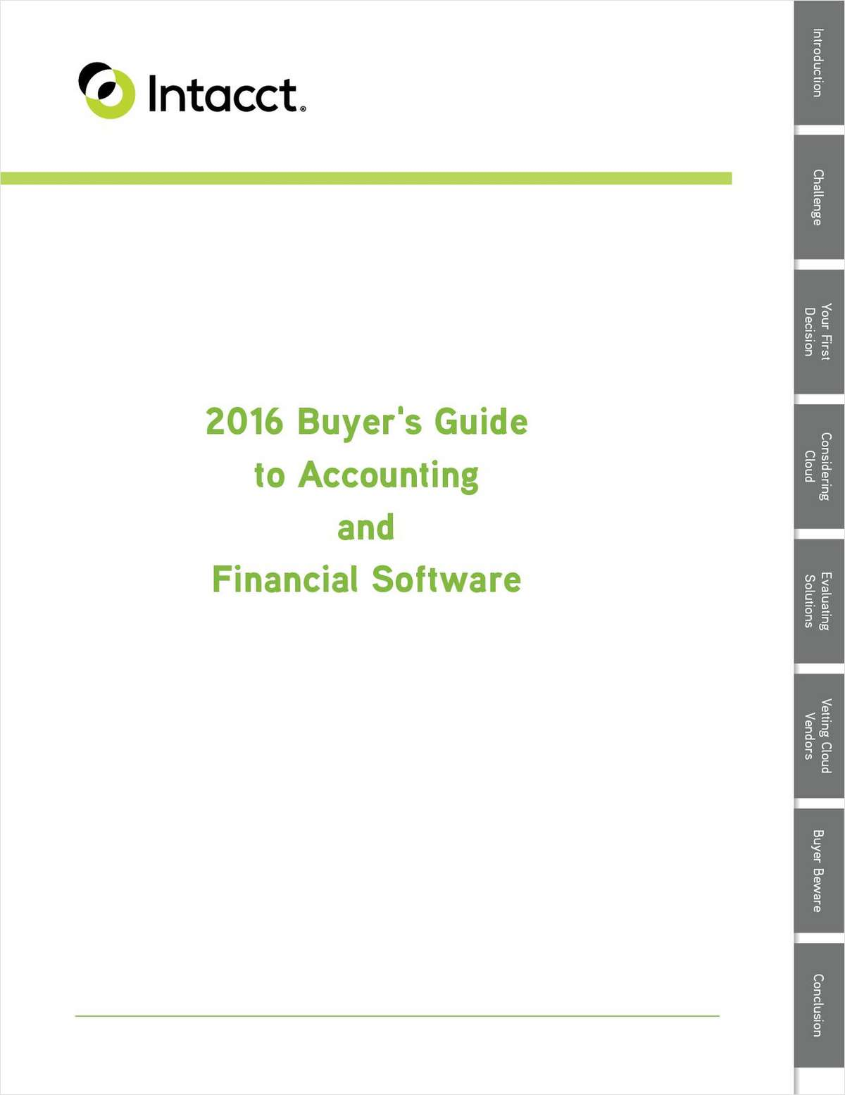 2016 Buyer's Guide to Accounting and Financial Software