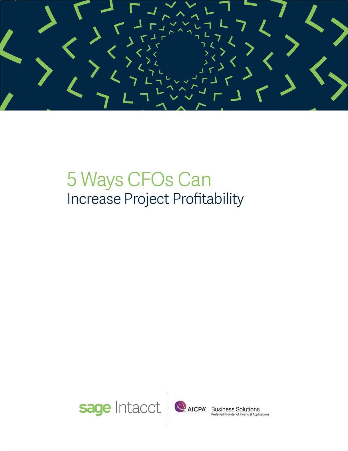 5 Ways CFOs Can Increase Project Profitability