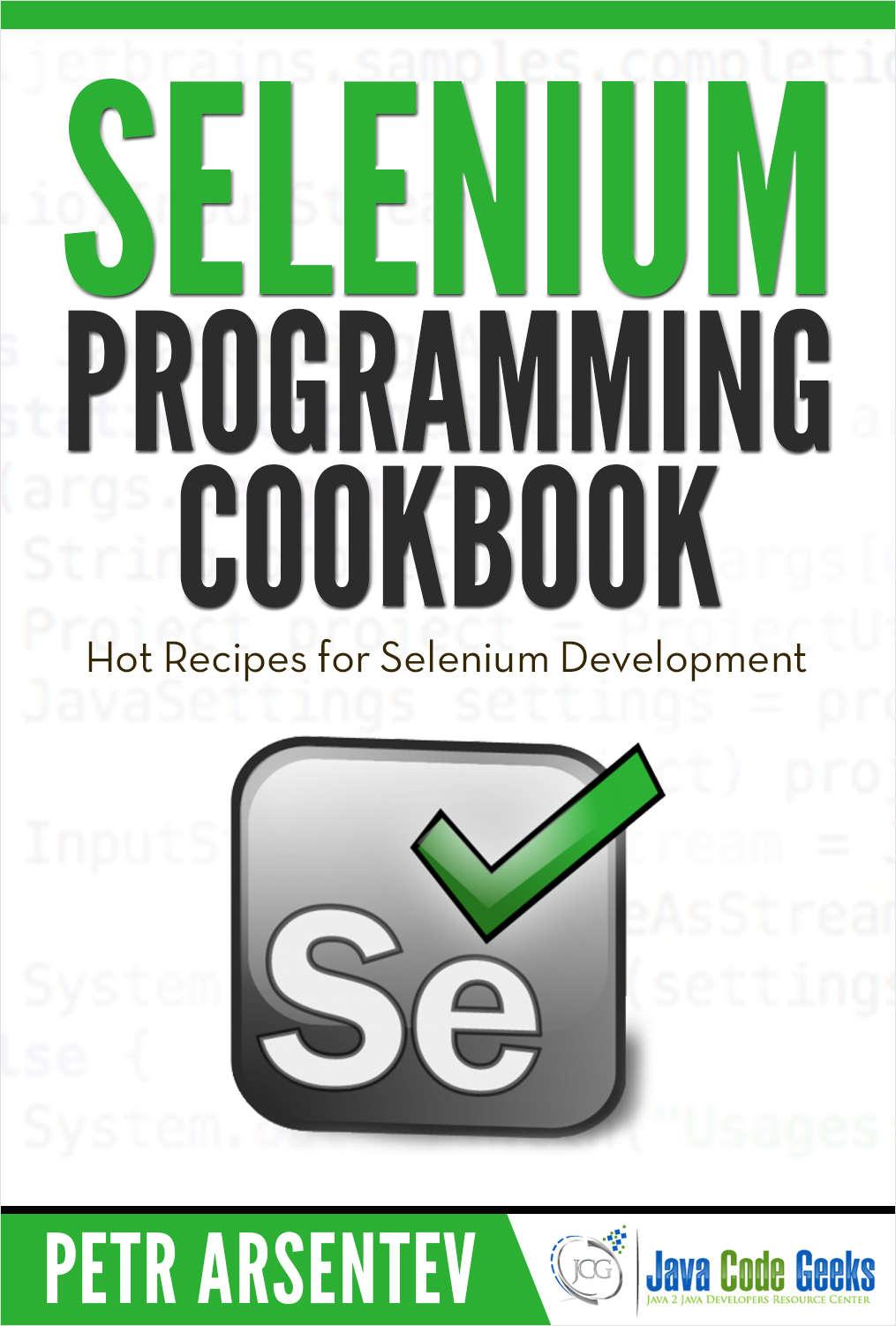 Selenium Programming Cookbook