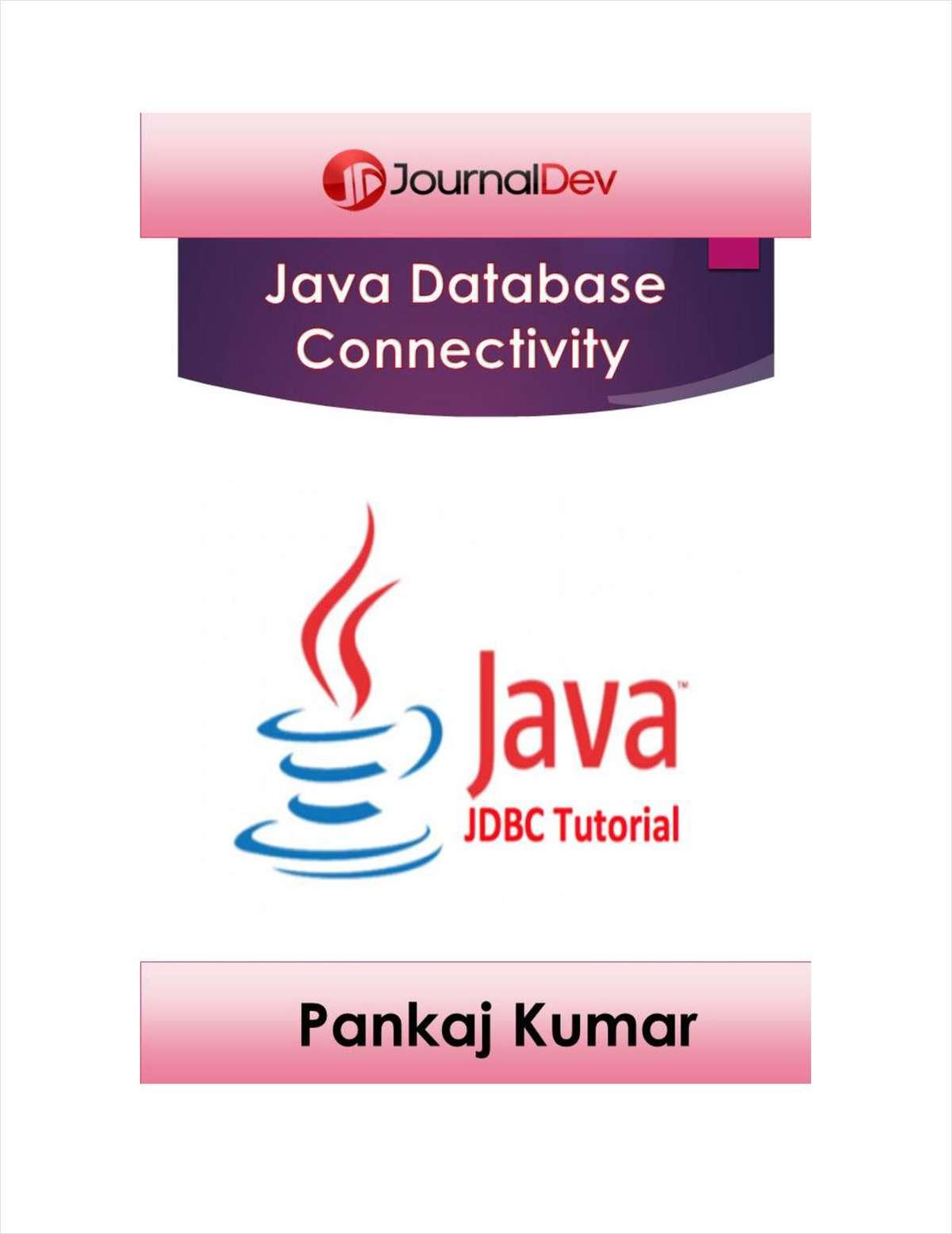 Java Database Connectivity (JDBC) Tutorial