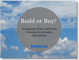 Build or Buy? Comparing Off-The-Shelf and Homegrown Software Applications