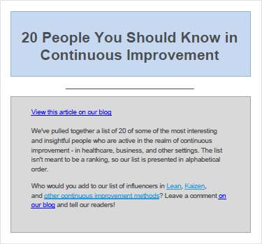 20 People You Should Know in Continuous Improvement