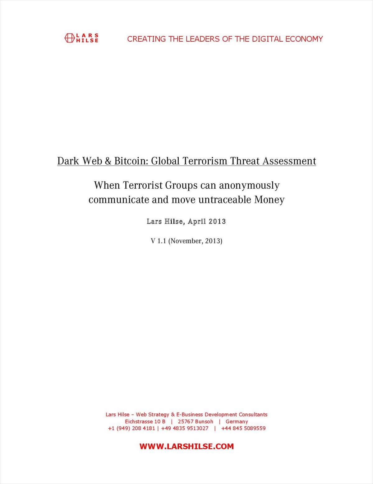 Dark Web & Bitcoin: Global Terrorism Threat Assessment